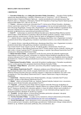 REGULAMIN - usługi edukacyjne