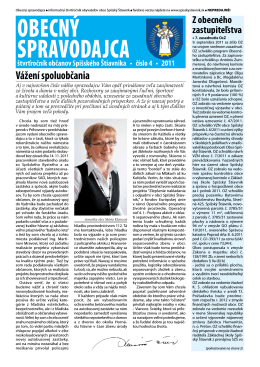 Obecný spravodajca 4/2011