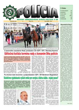 policia 10/2014 - Odborový zväz polície v Slovenskej republike