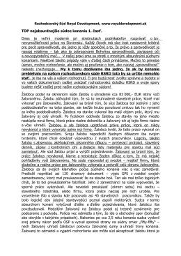 Ako súd priznal vymyslený a neexistujúci nárok (PDF)