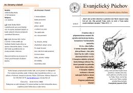 časopis Evanjelický Púchov 3/2013