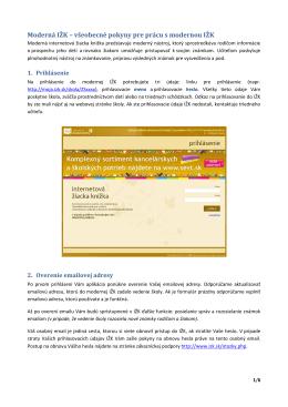Moderná IŽK - internetová žiacka knižka
