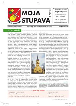 6-7/2012 - Moja Stupava