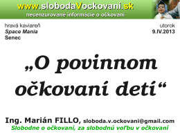 prezentácia Ing. Marián Fillo