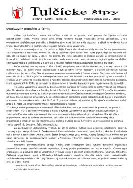 Tulčícke šípy 1/2014