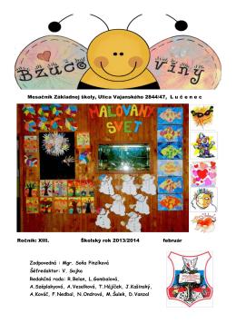 Február 2014 - Základná škola, Vajanského 2844/47, Lučenec
