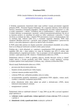 Národný realizačný plán Štokholmského dohovoru a jeho