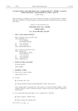 (ES) č. 509/2006 o zaručených tradičných špecialit