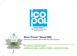 Silver Primer® Speed SBS - Technológia Speed Syntan ® SBS