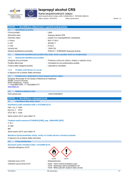 Isopropyl alcohol CRS - European Directorate for the Quality of