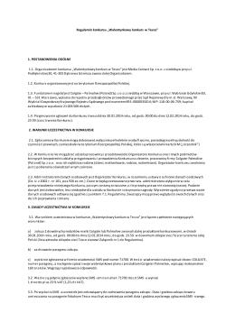 "Regulamin konkursu ""Palmolive w Carrefour"""