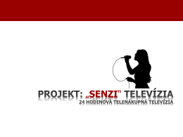 Od 1. Septembra Senzi TV