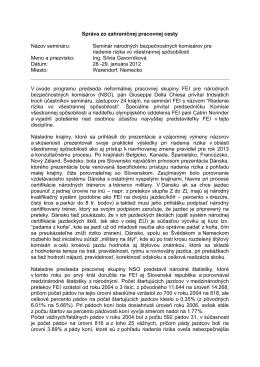 Správa zo ZPC - Gavorníková