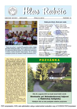 Obecné noviny 2/2012