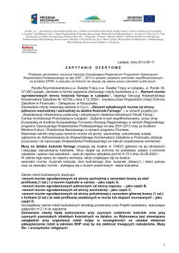 Powiat Adres Nazwa Firmy Zakres prowadzonej działalności