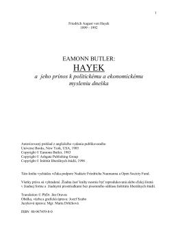 Eamon BUTLER: HAYEK - Liberálna spoločnosť