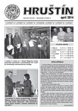 apríl 2014 - Obec Hruštín