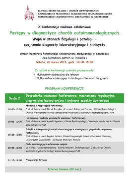 Konferencje naukowe, sympozja, seminaria planowane w 2014 r.