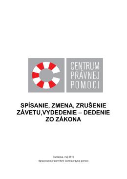 Dedenie 05-2012 - CENTRUM PRÁVNEj POMOCI