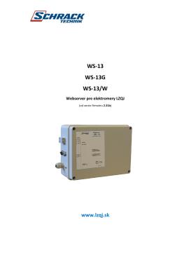 Návod na WS - 13 (2.31b)