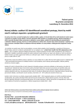 Rozvoj vidieka: audítori EÚ identifikovali osvedčené