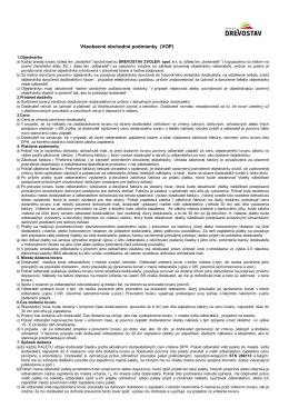 Všeobecné obchodné podmienky (VOP)