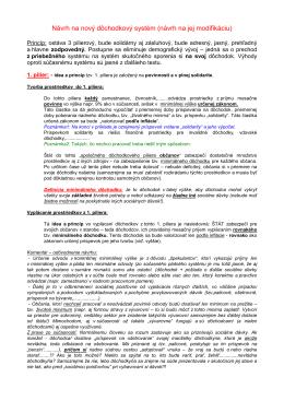 Návrh na nový dôchodkový systém (návrh na jej