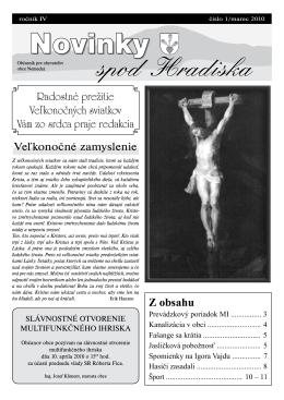 Obecné noviny 1/2010