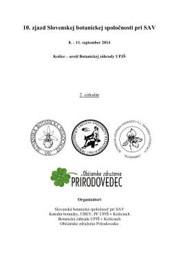 Zjazd SBS - Slovenská botanická spoločnosť