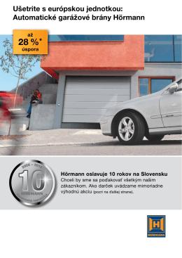 Automatické garážové brány Hörmann