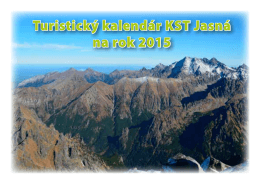 Turistický kalendár KST Jasná na rok 2015
