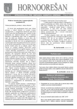 Hornoorešan - číslo 4/2010