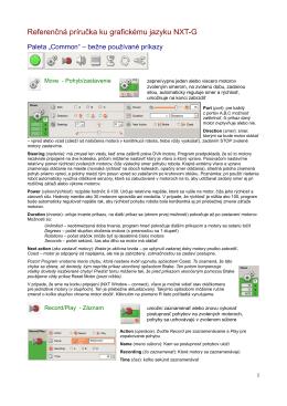 Referenčná príručka ku grafickému jazyku NXT-G