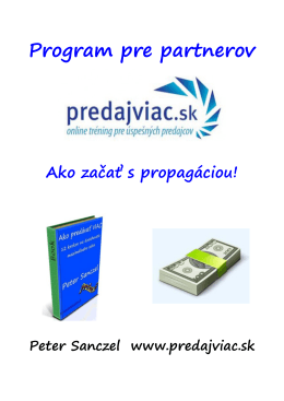 Program pre partnerov