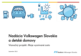 Überschrift in zwei Zeilen - Nadácia Volkswagen Slovakia