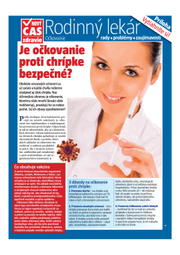 zdravie Je očkovanie proti chrípke bezpečné?
