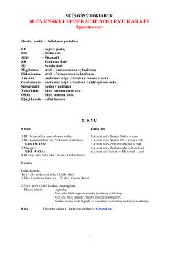 SKÚŠOBNÝ PORIADOK SFŠR - aktualizovaný 8.6