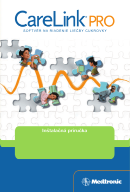 Inštalačná príručka - Medtronic Diabetes
