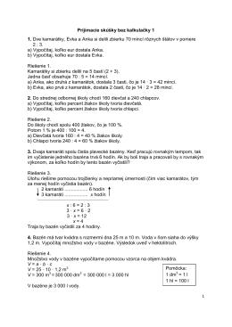 Prijímačky bez kalkulačky 1