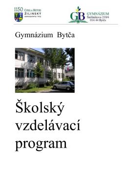 Školský vzdelávací program - Gymnázium Bytča