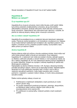 Draft Hepatitis B leaflet v 2 July - Public Health Agency for Northern