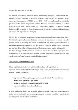 Doplňujúce informácie k tlačovej správe
