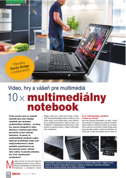 10×multimediálny notebook