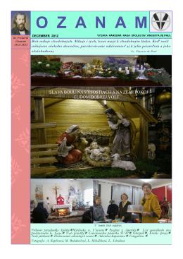 Ozanam 4/2012 - Spolok sv. Vincenta de Paul na Slovensku