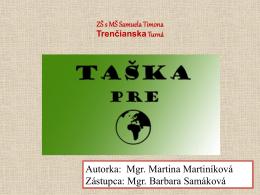 Taška pre Zem - Slovenská agentúra životného prostredia