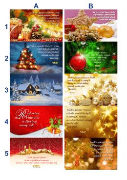 Katalóg vianočných pozdravov