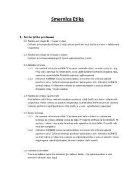 Smernica Etika - Aikido Dojo Piešťany