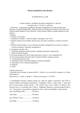 zápisnica a uznesenie z ustanovujúceho zastupiteľstva OZ