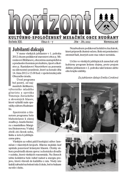 Horizont číslo 6 a 7/2012