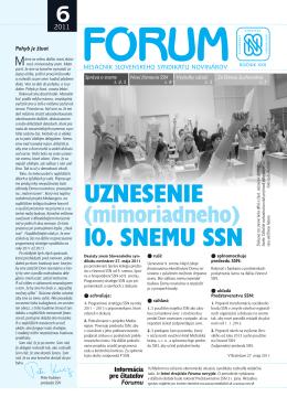 6 - Slovenský syndikát novinárov